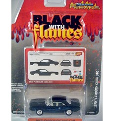 Johnny Lightning Street Freaks - Black with Flames - 1970 Plymouth Cuda 340