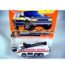 Matchbox 2000 Millennium Logo Chase Series - Runway Rescue Airport Fire Truck