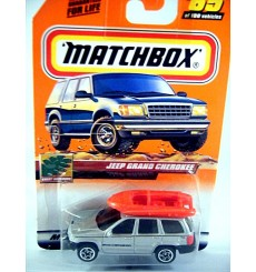 Matchbox 2000 Millennium Logo Chase Series - Jeep Grand Cherokee with Raft