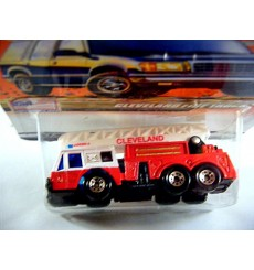 Matchbox 2000 Millennium Logo Chase Series - Cleveland Fire Department Ladder Truck