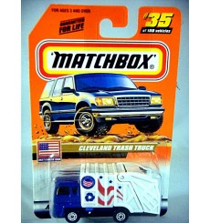 Matchbox 2000 Millennium Logo Chase Series - Cleveland Trash Truck