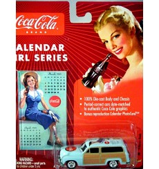 Johnny Lighting Coca-Cola Calendar Girls - 1950 Mercury Woody Station Wagon