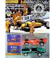 Johnny Lightning Indianapolis 500 Champions Collections: 1977 Oldsmobile Delta 88 Pace Car and 77 AJ Foyt Indy Car