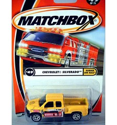 Matchbox - 50th Anniversary Logo Chase Car - Chevrolet Silverado Crew Cab Contractor Pickup Truck