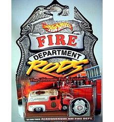 Hot Wheels Fire Rods - 1956 Ford Panel Van Albuquerque NM Fire Truck