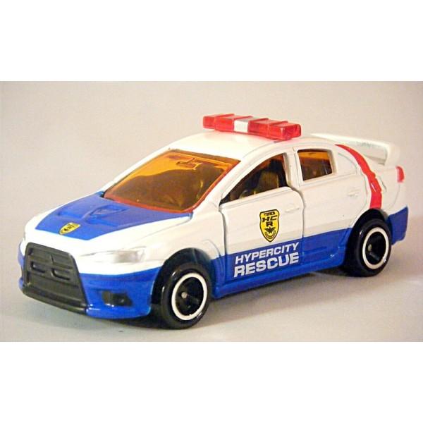 Mitsubishi Lancer Box Type >> Tomica - Mitsubishi Lancer Evo Police Car - Global Diecast Direct
