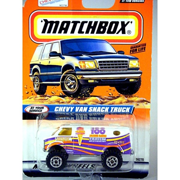 Matchbox   Chevy Van 4x4 Ice Cream Truck (Uncataloged)