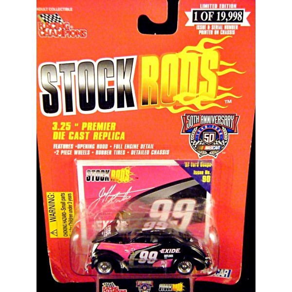 Racing Champions Stock Rods Jeff Burton Exide 37 Ford Coupe