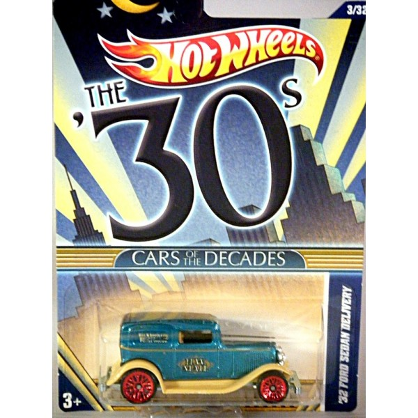 Hot Wheels Cars Of The Decades 1932 Ford Sedan Delivery Mail Truck