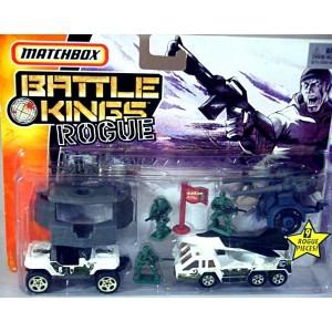 Matchbox - Battle Kings Rogue Set - Jeep Hurricane and Fighter Plane Transporter Truck