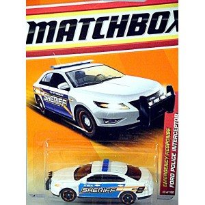 Matchbox - Ford Police Interceptor - Sheriff Patrol Car ...