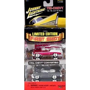 Johnny Lightning First Shots - Tri Chevys - 1956 Chevrolet Belair Convertible