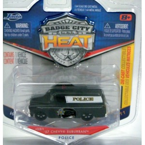 Jada Badge City Heat - 1957 Chevrolet Suburban Police Truck