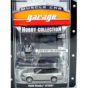 Greenlight Muscle Car Garage Hobby Collection - 2008 Ford Mustang Shelby GT500 Convertible