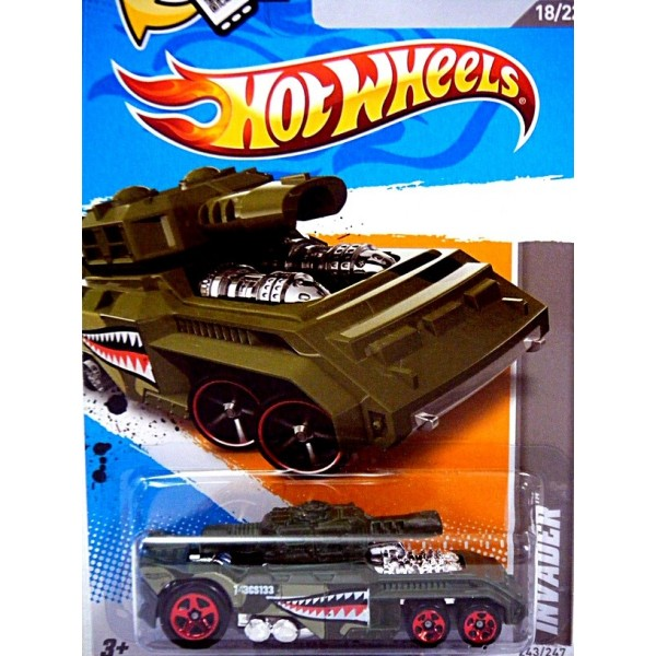 Hot Wheels Invader Military Tank Global Diecast Direct