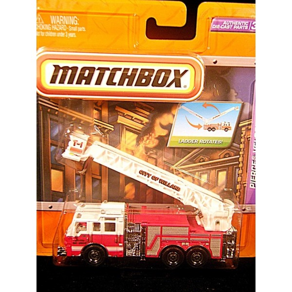 Matchbox Real Working Rigs Pierce Velocity Aerial Ladder