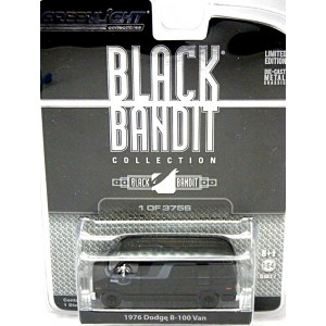Greenlight Black Bandit Series 7- 1976 Dodge B-100 Van