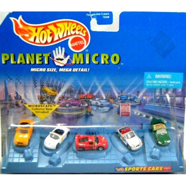 hot wheels planet micro sports car set ferrari. Black Bedroom Furniture Sets. Home Design Ideas