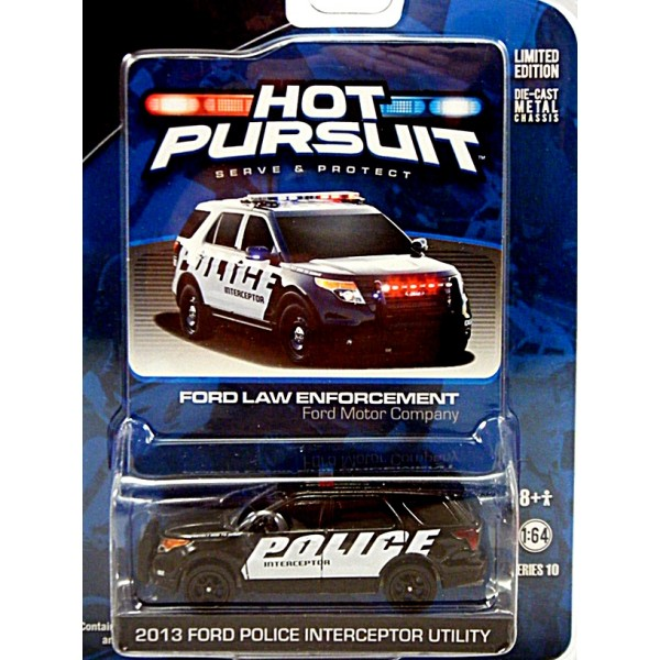 Greenlight Hot Pursuit Ford Law Enforcement Police Interceptor Utility
