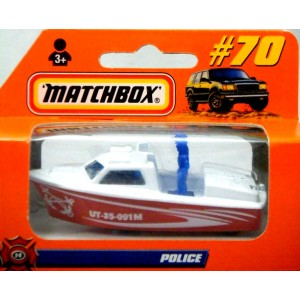 Matchbox Police Launch Patrol Boat