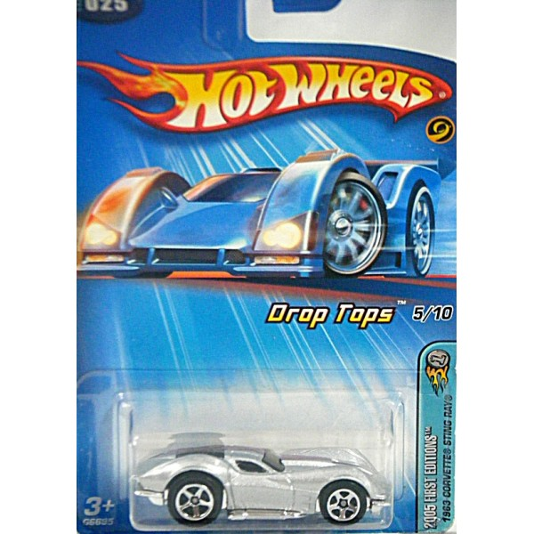 Hot Wheels 2005 First Editions - 1963 Corvette Stingray Split Window Coupe  - Drop Top