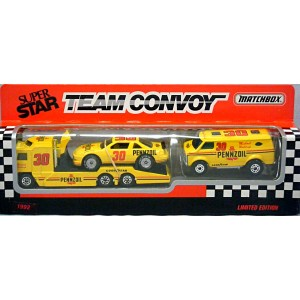 Matchbox Super Stars Michael Waltrip NASCAR Pennzoil Team Convoy Set