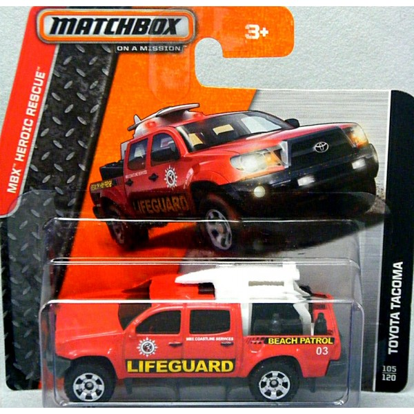 Matchbox - Toyota Tacoma Lifeguard Beach Patrol Pickup ...
