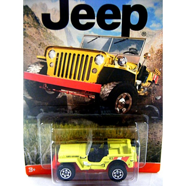 Matchbox Jeep Collection 1943 Jeep Willys Lifeguard