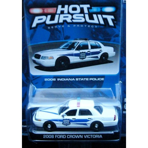 Greenlight Hot Pursuit R3 Indiana State Police Ford Crown Victoria Patrol Car