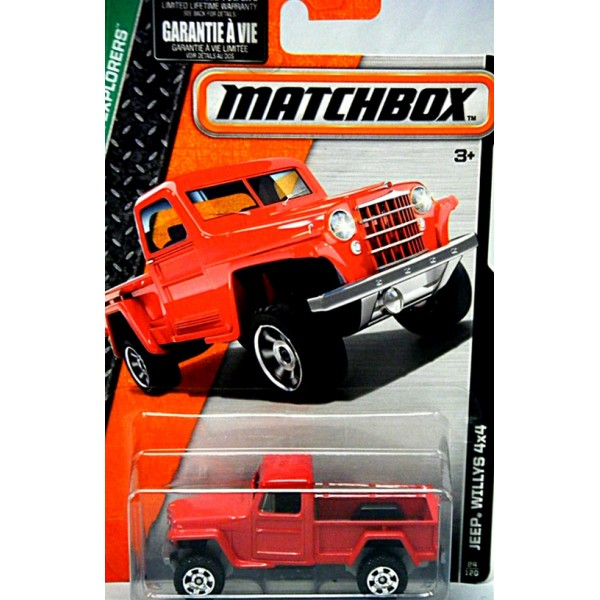 Old Chevy Truck >> Matchbox - 1953 Jeep Willys Pickup Truck - Global Diecast ...