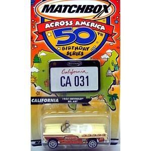 Matchbox Across America Series - California 55 Chevy Surf Shop Convertible