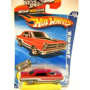 Hot Wheels Keys to Speed and Keychain 1966 Ford Fairlane GT