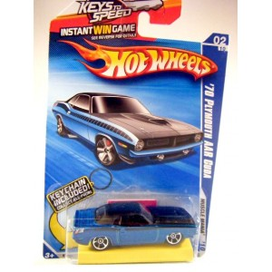 Hot Wheels Keys to Speed and Keychain 1970 Plymouth AAR Cuda
