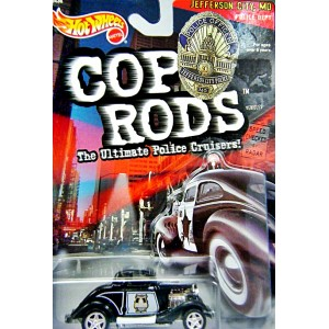 Hot Wheels - Cop Rods - St Joseph MO Police - 34 Ford 3 Window Coupe