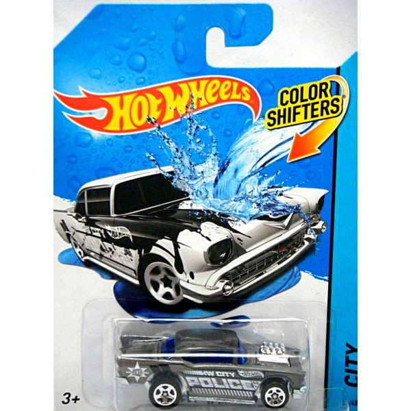 hot wheels color shifters 1957 chevrolet bel air police. Black Bedroom Furniture Sets. Home Design Ideas