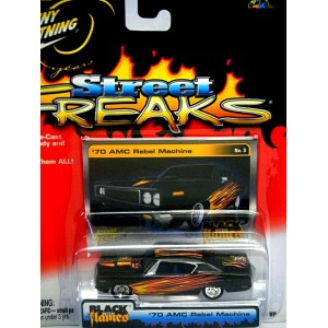 Johnny Lightning Street Freaks - Black With Flames - 1966 Dodge Charger