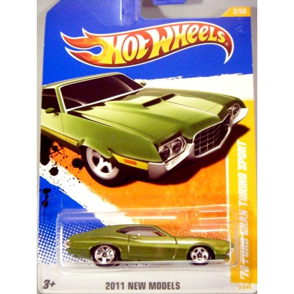 Hot Wheels 2011 New Model Series 1972 Ford Gran Torino