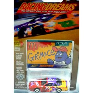 Johnny Lightning Racing Dreams - 1997 Pontiac Grand Prix McDonalds GrimaceNASCAR Stock Car