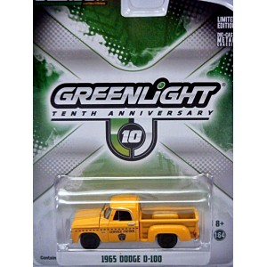 Greenlight 10th Anniversary - 1965 Dodge D-100 Pickup Truck