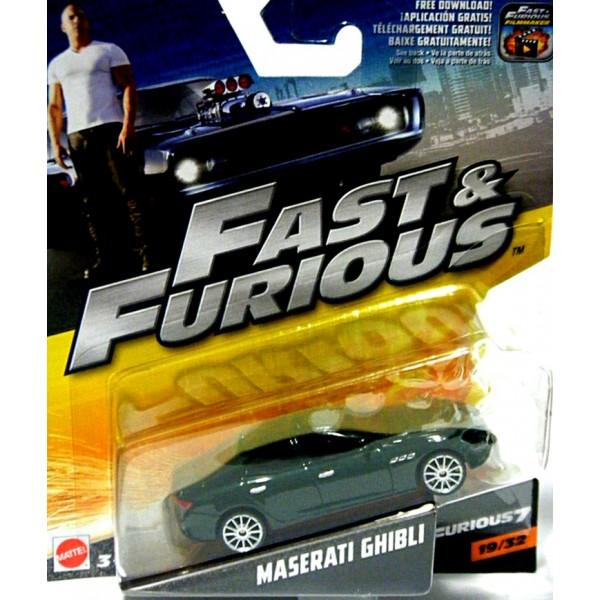 Mattel Fast And Furious Maserati Ghibli Global