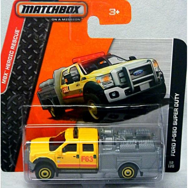 New Chevy Trucks >> Matchbox Ford F-550 Super Duty Fire Truck - Global Diecast ...