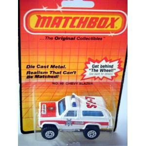 Matchbox Chevolet Blazer Sherrif Police Truck