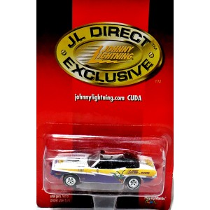 Johnny Lightning Limited Edition Club Member 1971 Plymouth Cuda Convertible Promo