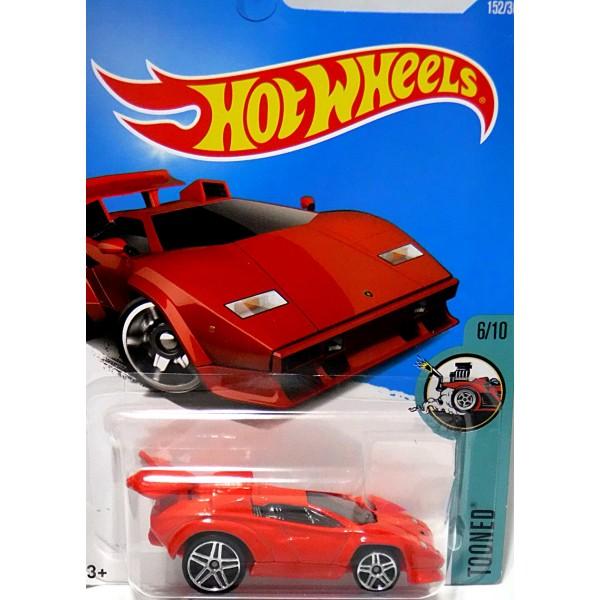 hot wheels - lamborghini countach - tooned - global diecast direct