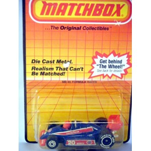 Matchbox Indy Open Wheel Race Car