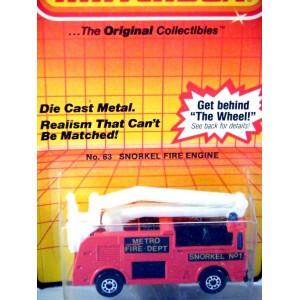 Matchbox Metro Fire Department Snorkel Fire Truck