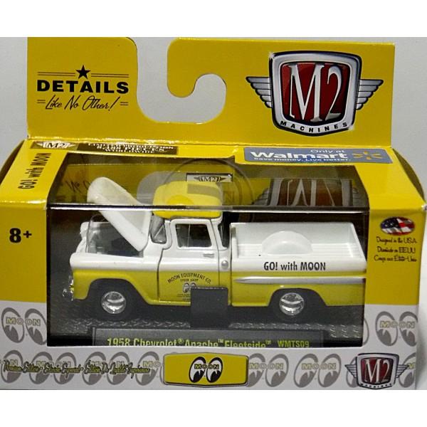 M2 Moon 1958 Chevy Apache Fleetside Pickup Truck Global Diecast