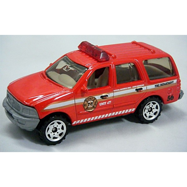 Matchbox - Ford Expedition Fire Department Truck