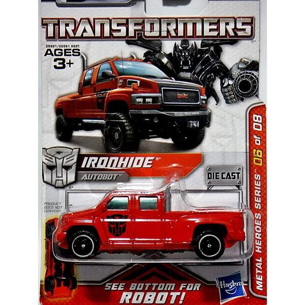 Hasbro Transformers Metal Heroes Series Ironhide Gmc Topkick 6500 Pickup Truck