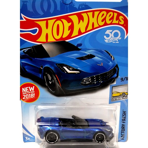 hot wheels 2018 new models chevrolet corvette z06 convertible global diecast direct. Black Bedroom Furniture Sets. Home Design Ideas